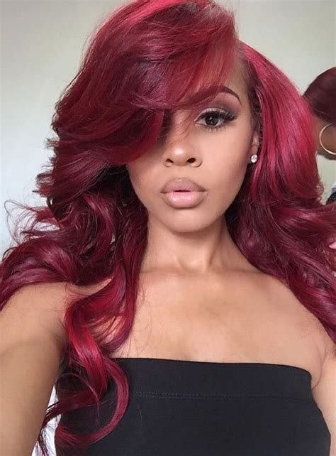 burgundy hair on a latina grade 7a burgundy hair extensions body wave 3pcs lot