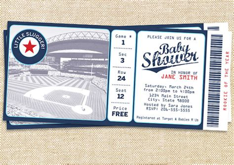 Baby Shower Baseball Ticket Invitations by Baseball Baby Shower Invitation Set Of 30