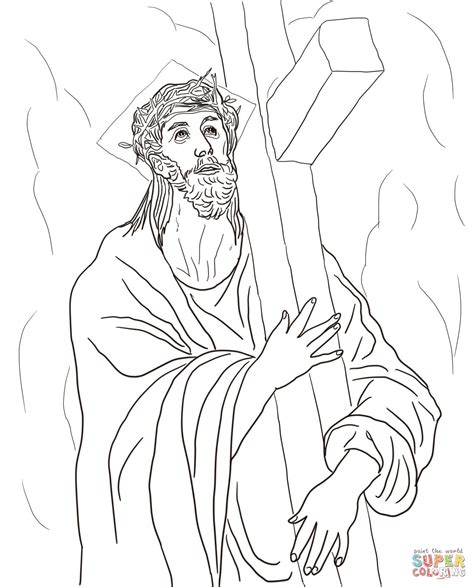 printable coloring pages of jesus carrying the cross second station jesus carries his cross coloring page