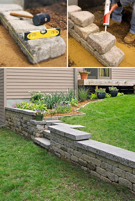 diy garden wall diy garden retaining walls the garden glove