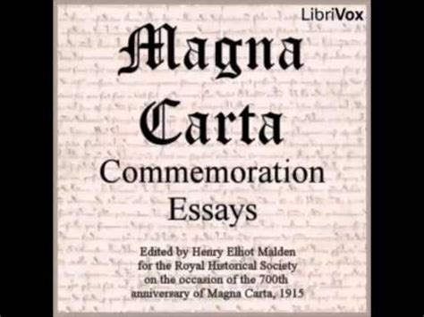 Magna Carta Essay by Magna Carta Commemoration Essays Audiobook