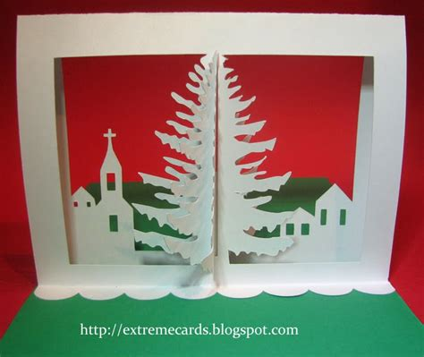 3d Christmas Tree Pop Up Card Tutorial 3d Tree Card Template