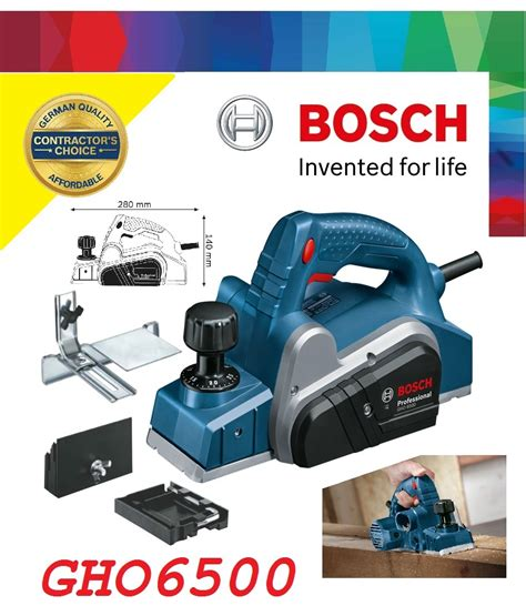 Mesin Planer 650w Gho 6500 Bosch bosch gho 650w wood planer my power tools