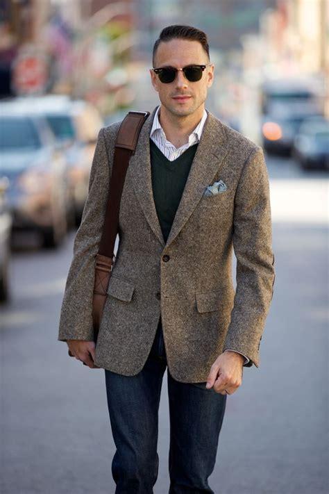 tweed style jacket tweed blazer mens fall essential