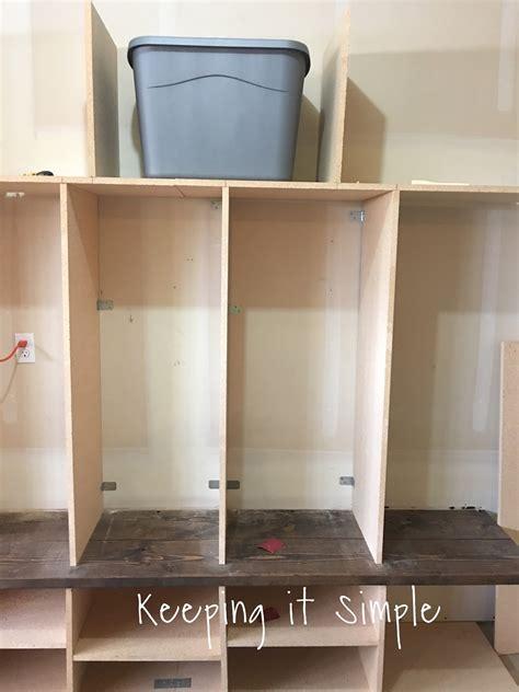 mudroom locker plans diy keeping it simple diy garage mudroom lockers with lots of