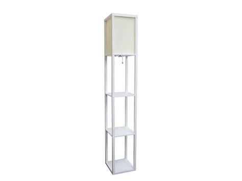 floor l etagere organizer storage shelf with linen shade