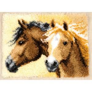 Wool Hooked Rug Kits Horses Rug Latch Hook Vervaco Pn 0144834