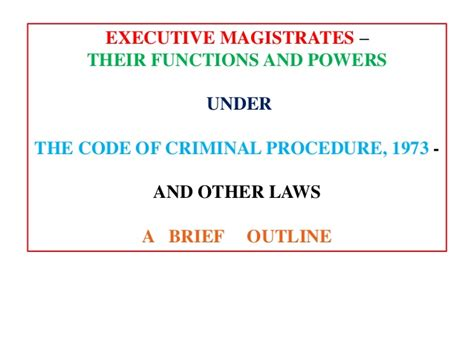 section 125 of code of criminal procedure powers and duties of executive magistrates