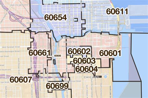 chicago map with zip codes chicago illinois printable u s zip code boundary maps