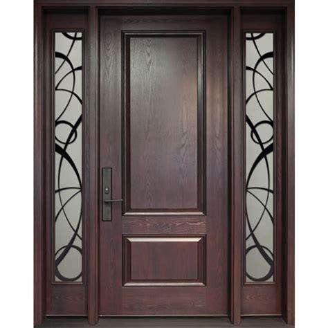exterior fiberglass door single door with two panel glass sidelights model fr02