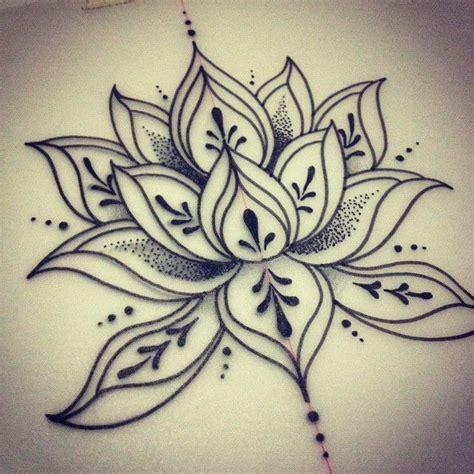 lotus tattoo dotwork cool dotwork lotus flower tattoo design