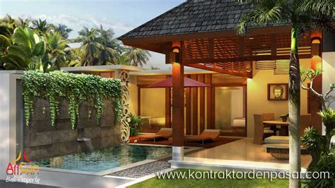 desain rumah villa tropis villa gaya bali tropis 170m2 pak joy artcon bali