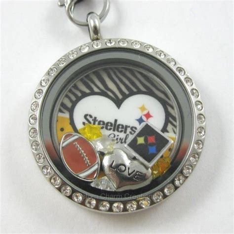 Handmade Jewelry Pittsburgh - new pittsburgh steelers floating charm plate lot w