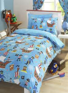 Pirate Duvet Covers Boys Pirate Bedding Blue Design With Ships And Treasure