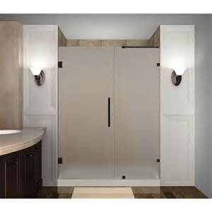 frameless hinged shower doors aston nautis 63 in x 72 in completely frameless hinged