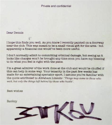 Thank You Letter For Museum Donation Banksy Artwork That Was Donated To The Broad Plain Boys Club Bristol Sells For 163 403 000