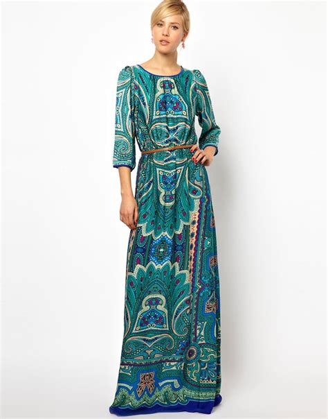 Maxi Dressers mango mango paisley print maxi dress at asos
