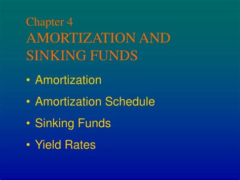 loan cost amortization code section ppt chapter 4 amortization and sinking funds powerpoint