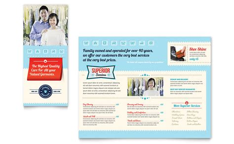 laundry flyers templates laundry services brochure template design