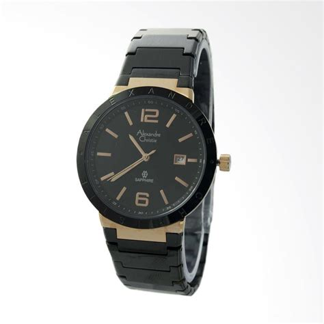 Jam Tangan Alexandre Christie Ac 8313 Black Gold daftar harga jam tangan alexandre christie harga c