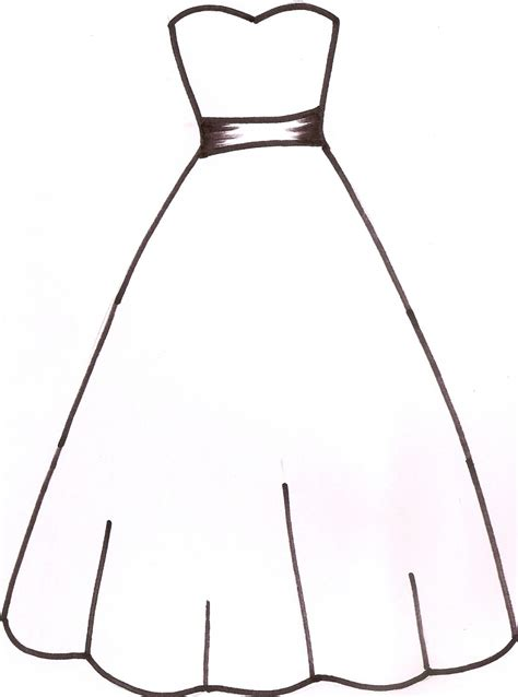 Wedding Dress Outline by Wedding Dress Outline Clipart Panda Free Clipart Images