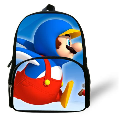 Supersale Kidsbag 12 inch mini mario backpack school bags for boys age 1 6 backpack children
