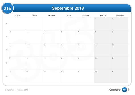 Calendrier 2018 Septembre Calendrier Septembre 2018