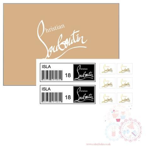 shoe labels for louboutin shoe box edible icing sheet