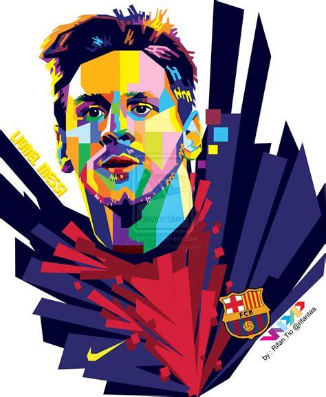 Football Artwork Messi 1 lionel messi clipart clipground