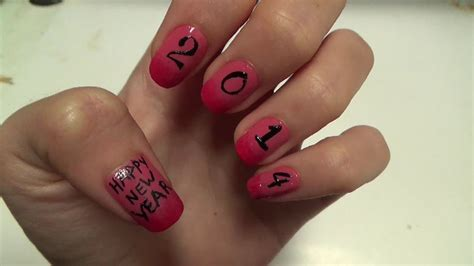 nail design for new year 2013 easy nails happy new year 2014