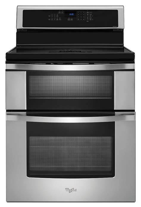 oven electric range with induction cooktop whirlpool wgi925c0bs 30 quot electric range w induction