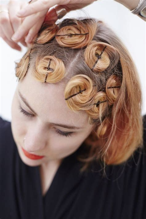 Pin Curl Hairstyles by Best 25 Pin Curls Ideas On Vintage Curls Pin