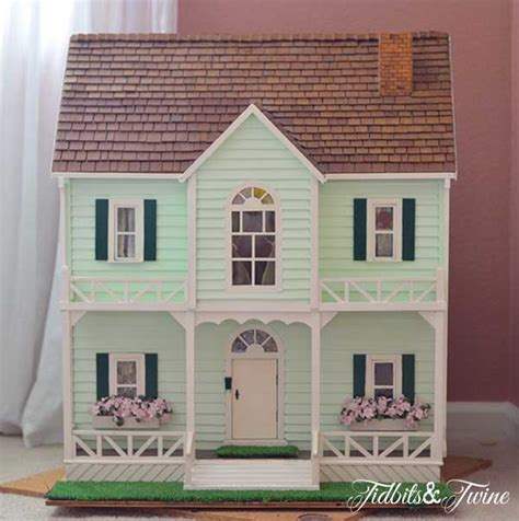 Handmade Dolls Houses - how to make a dollhouse tidbits twine