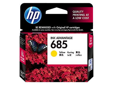 Cartridge Original Hp 685 Hp 685 Hp685 Magenta Cz123aa hp 685 yellow original ink advantage cartridge cz124aa hp 174 india
