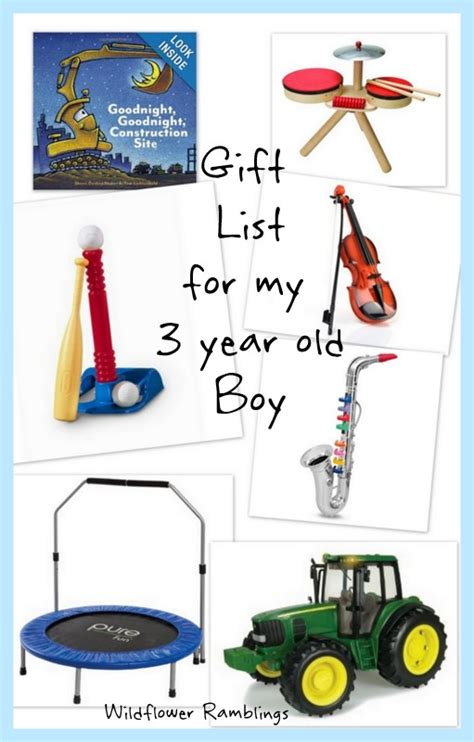 gift ideas for my 3 year old boy wildflower ramblings