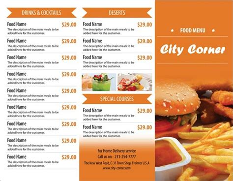 tri fold restaurant menu templates 10 psd tri fold menu templates free images tri fold