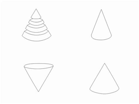 dunce hat template cone outline clip