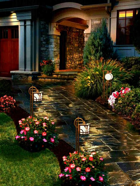 diy home design ideas pictures landscaping modern lighted path amazing diy front yard landscaping