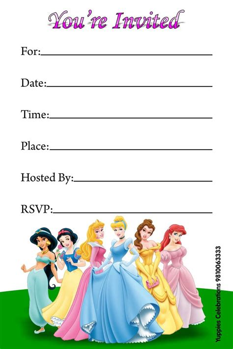 printable birthday invitations disney princess free disney princess invitations free printable invitations