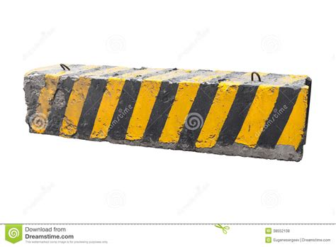 Road Barrier 9 11 striped black and yellow concrete road barrier royalty