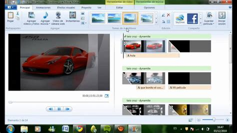 new windows movie maker tutorial tutorial como usar windows live movie maker youtube