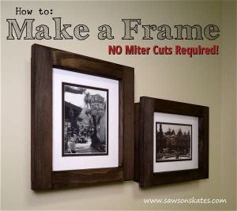 How To Make A Picture Frame Out Of Paper - diy no miter cut picture frame gifts and