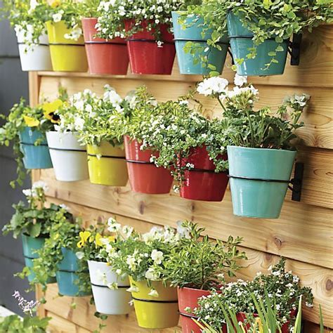 Wall Planter Hook Crate And Barrel Gardens Pool Wall Garden Pots