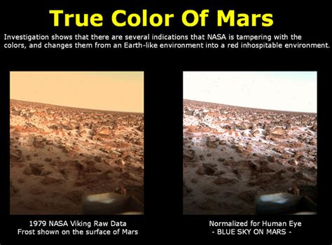 what is the real color of the sky true color of mars conspiracies secret societies