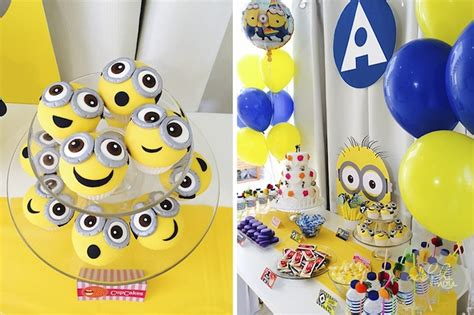 birthday themes minions minion themed birthday party with so many cute ideas via