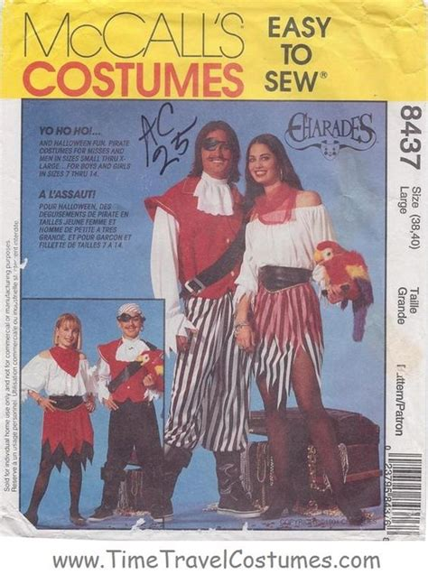 pirate costume patterns on pinterest mccall s 8437 easy pirate costume costumes family men s