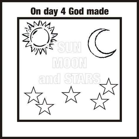 7 days of creation coloring pages 7 days of creation coloring pages