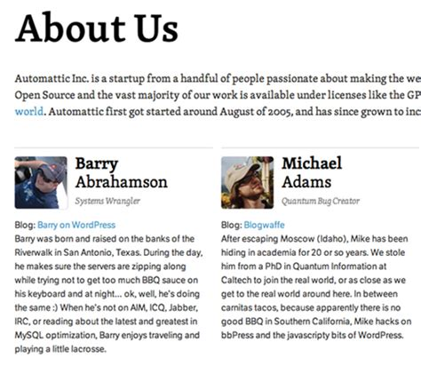 About Us Section Of Website Exles by The Personality Layer Smashing Magazine
