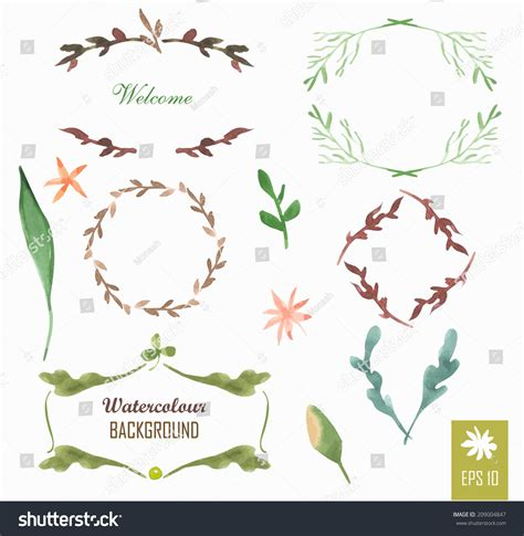 design elements watercolor hand painted watercolor design elements floral motifs