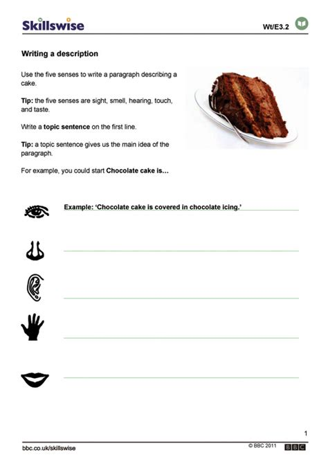 Writing A Paragraph Worksheet by Writing Resources For Learners Skillwise